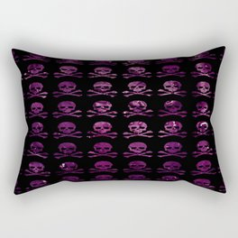 Skull and XBones: Purple Cabbage Rectangular Pillow