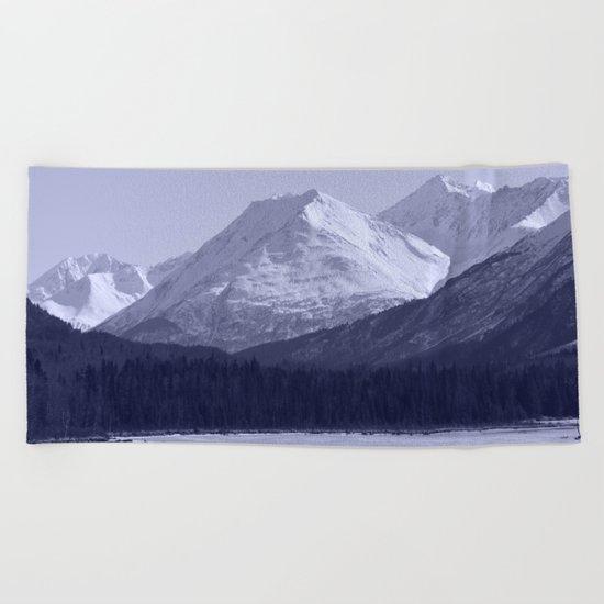 Tern Lake - Mono 1 Beach Towel