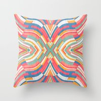 tape Throw Pillows featuring Tape Image by Danny Ivan