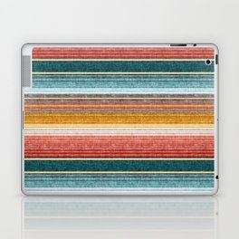 serape southwest stripe - orange & teal Laptop & iPad Skin