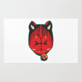 Lucky Oni Cat Rug