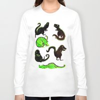 dinosaurs Long Sleeve T-shirts featuring dinosaurs by Lara Paulussen