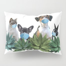 Pets Animals Mouth Nose Mask - Agave Leaves Pillow Sham
