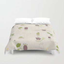My Potted Cactus Pattern Duvet Cover