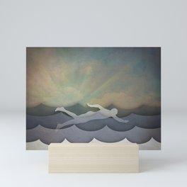 The Swimmer Mini Art Print