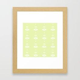Double Diamonds Pattern Framed Art Print