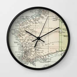 Vintage Map of the West Of Australia Wall Clock