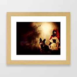 Red and Her Wolf Framed Art Print