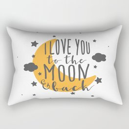 I Love You To The Moon.. - Yellow Palette Rectangular Pillow