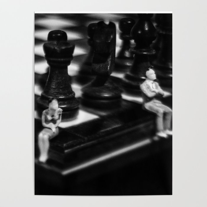 Make a Move Already from the Game of Life Series Chess Poster