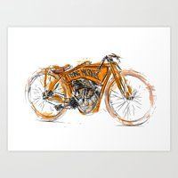 Flying Merkel Art Print
