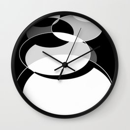 monochrome cirlces Wall Clock
