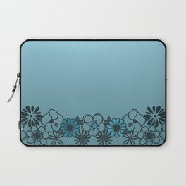 Kitschy Flower Medley Turquoise Laptop Sleeve