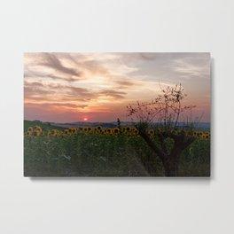 Sunrise from Morro d'Alba, Italy Metal Print