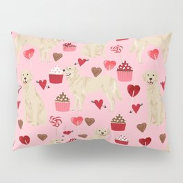 Golden Retriever cute valentines day must have dog gifts pet portraits custom dog lover valentines Pillow Sham