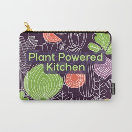 Plant Powered Kitchen Veggie Pattern Background Carry-All Pouch