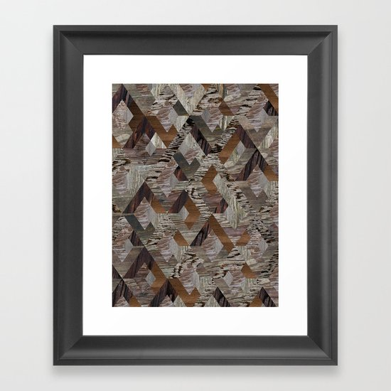 Wood Quilt Framed Art Print