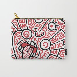 """""""The Face"""" - inspired by Keith Haring v. red Carry-All Pouch"""
