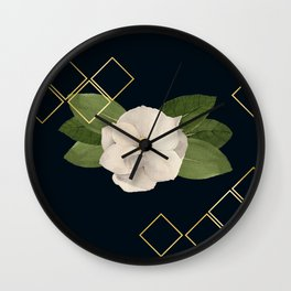Magnolia Bloom at Night Wall Clock