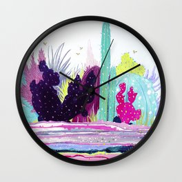 Cacti Watercolour Allsorts Wall Clock