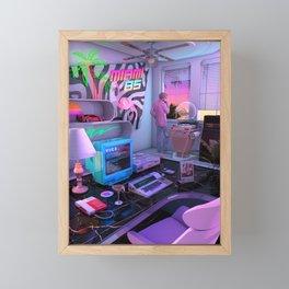 Synthwave Miami 85 Framed Mini Art Print