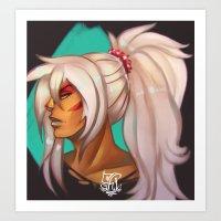 Ponytail Jasper Art Print