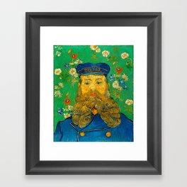 Vincent van Gogh - Portrait of Postman Framed Art Print