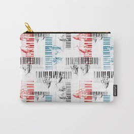 A piano pattern in black/red/blue Carry-All Pouch