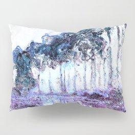 Monet : Poplars Lavender Periwinkle Deep Blue Pillow Sham