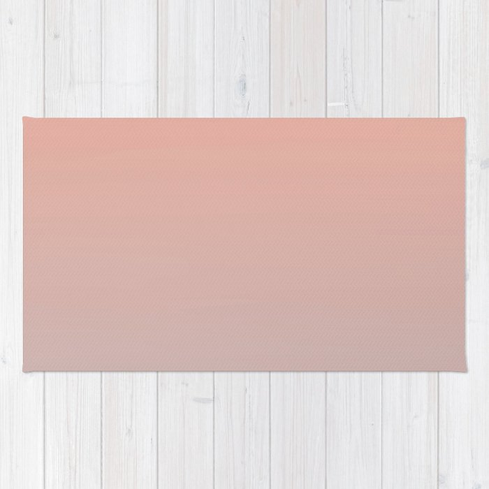 ARCADE LADIES - Minimal Plain Soft Mood Color Blend Prints Rug