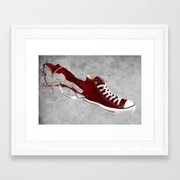 converse Framed Art Prints featuring Converse by Gayle Storm