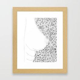 breast Framed Art Print