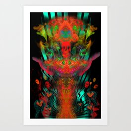 Atomic Psychedelia Art Print