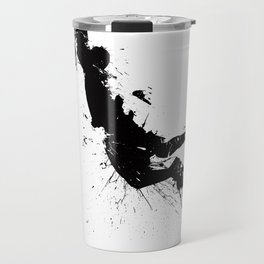 Basketball player dunking in ink Travel Mug