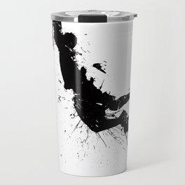 Basketball player dunking in ink Travel Mug