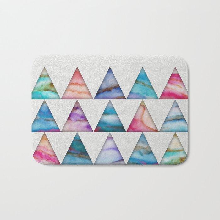 Marble Triangles 2 Bath Mat