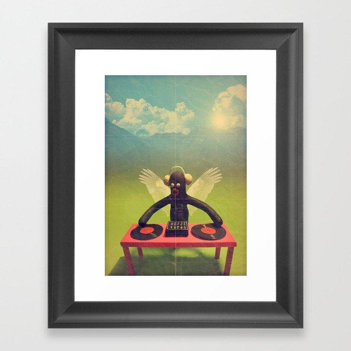 """last night a DJ saved my life"" Framed Art Print"