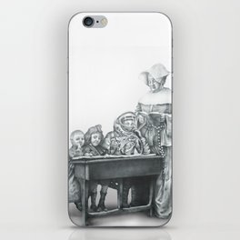 In which a cosmonaut is rendered quizzical iPhone Skin