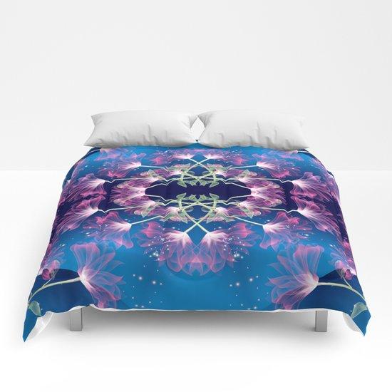 Flower Mandala v.3 Comforters