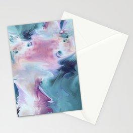 Abstract Art- Watercolor Art- Fractal Art- Blue Art- Ocean- Water- Marann Stationery Cards