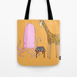 Octopus and Giraffe Tote Bag