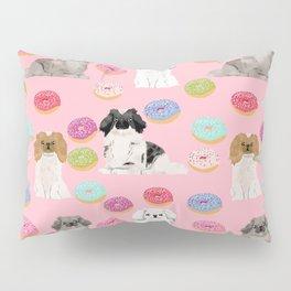 Pekingese dog breed dog pattern pet portraits donut food dog breeds pet friendly Pillow Sham