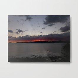 Sunset Over Taupo Metal Print