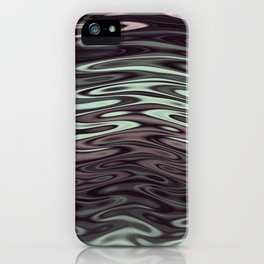 Ripples Fractal in Mint Hot Chocolate iPhone Case