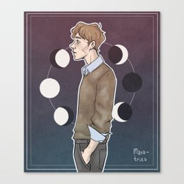 Remus - moon Canvas Print