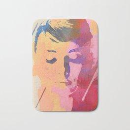 water color portrait Bath Mat