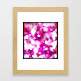 Pink Magenta White Macro Blur Glitter Sequins Closeup  Framed Art Print