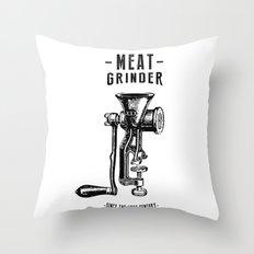 Meat Grinder Throw Pillow