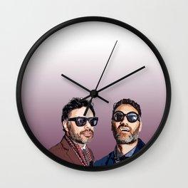 Jemaine and Taika 2 Wall Clock