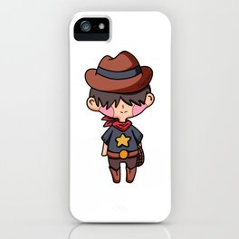 Cowboy Western Sheriff Cartoon Comic Kids gift iPhone Case